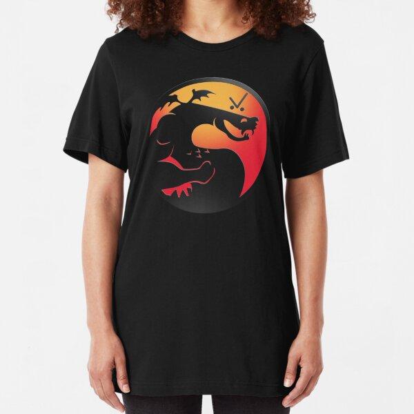 Trogdor Kombat Slim Fit T-Shirt