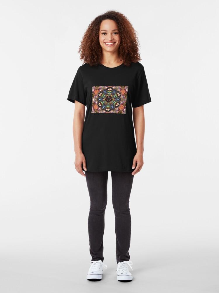 Alternate view of Water Kaleidoscope5 Slim Fit T-Shirt