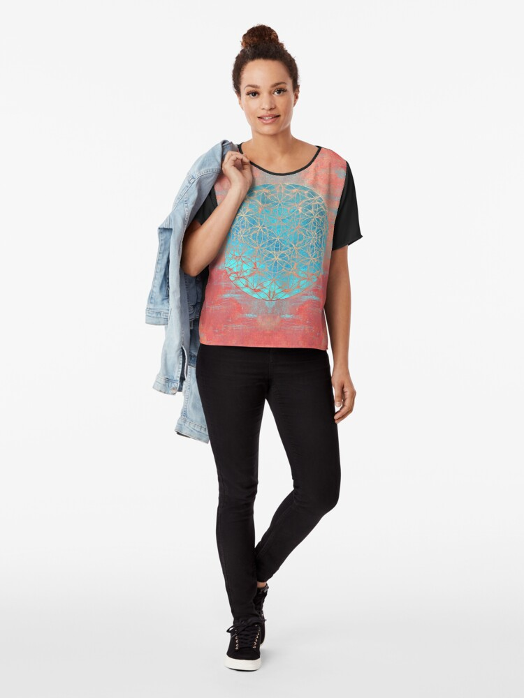 Alternate view of Flower of Life Chiffon Top