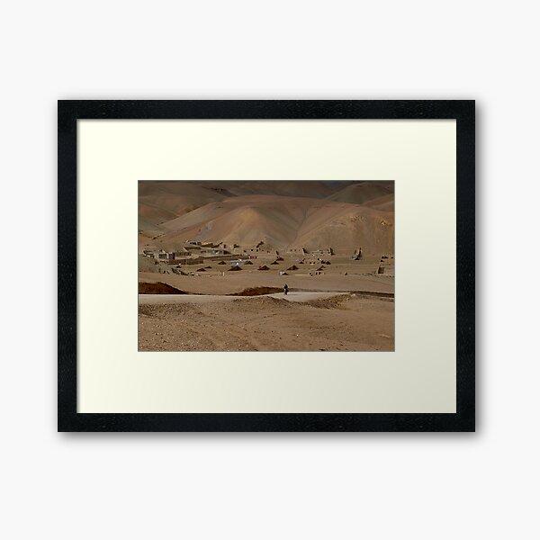 Village Afghanistan Framed Art Print