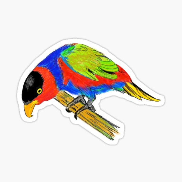 Black-capped Lory Sticker