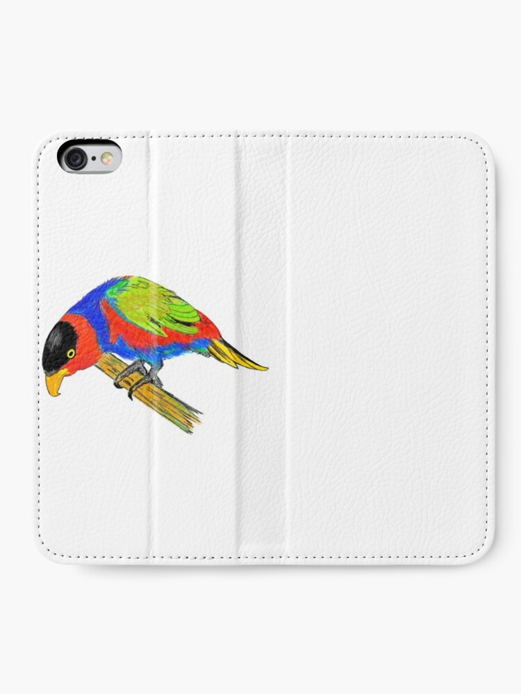 Alternate view of Black-capped Lory iPhone Wallet