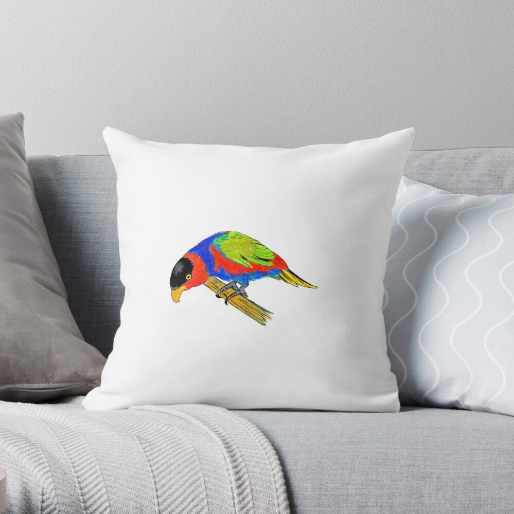 Black-capped Lory Throw Pillow