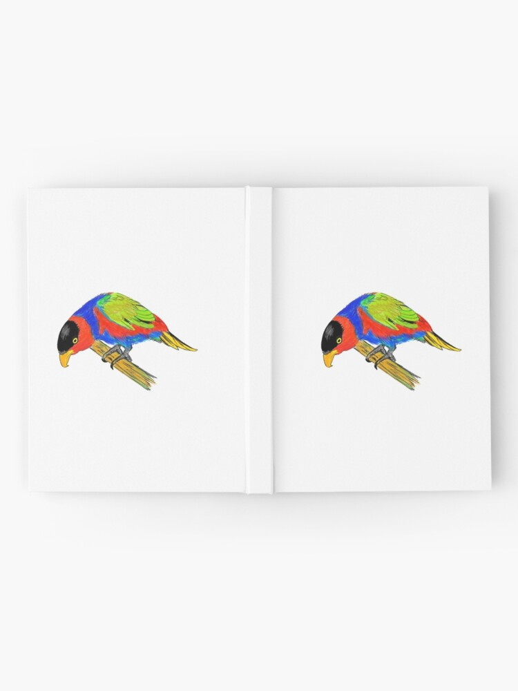 Alternate view of Black-capped Lory Hardcover Journal