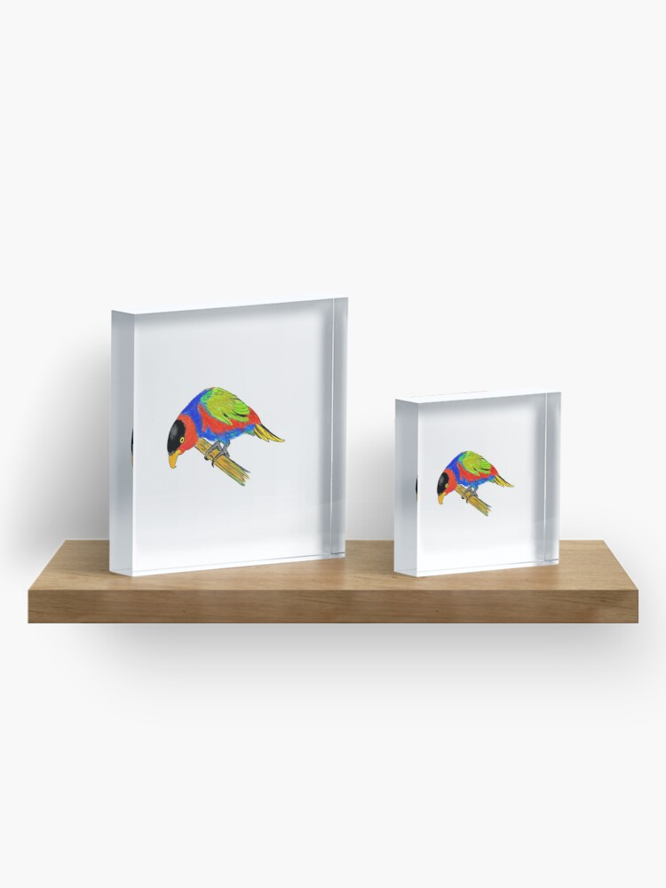 Alternate view of Black-capped Lory Acrylic Block