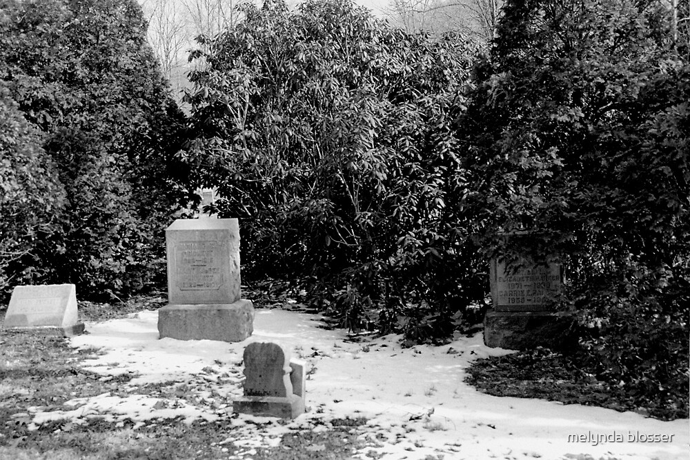 civil war graveyard B&W by melynda blosser