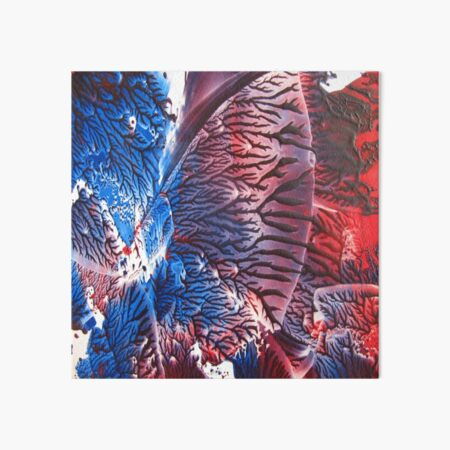 Blue Red Abstract Art Board Print