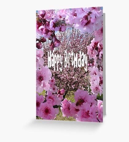 Happy Birthday Blossum Greeting Card