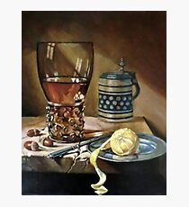 study still-life after old masterpiece Photographic Print