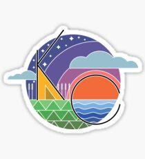 Retro KC Sunsets Sticker