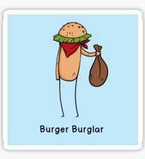Burger Burglar Criminal  Sticker