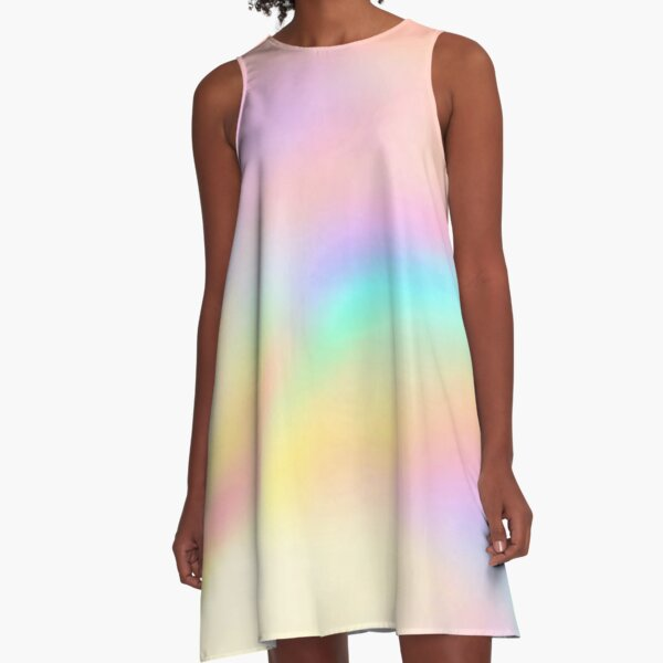 Iridescent Aesthetic Color A-Line Dress