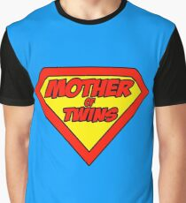 Super mom Mother of Twins Graphic T-Shirt