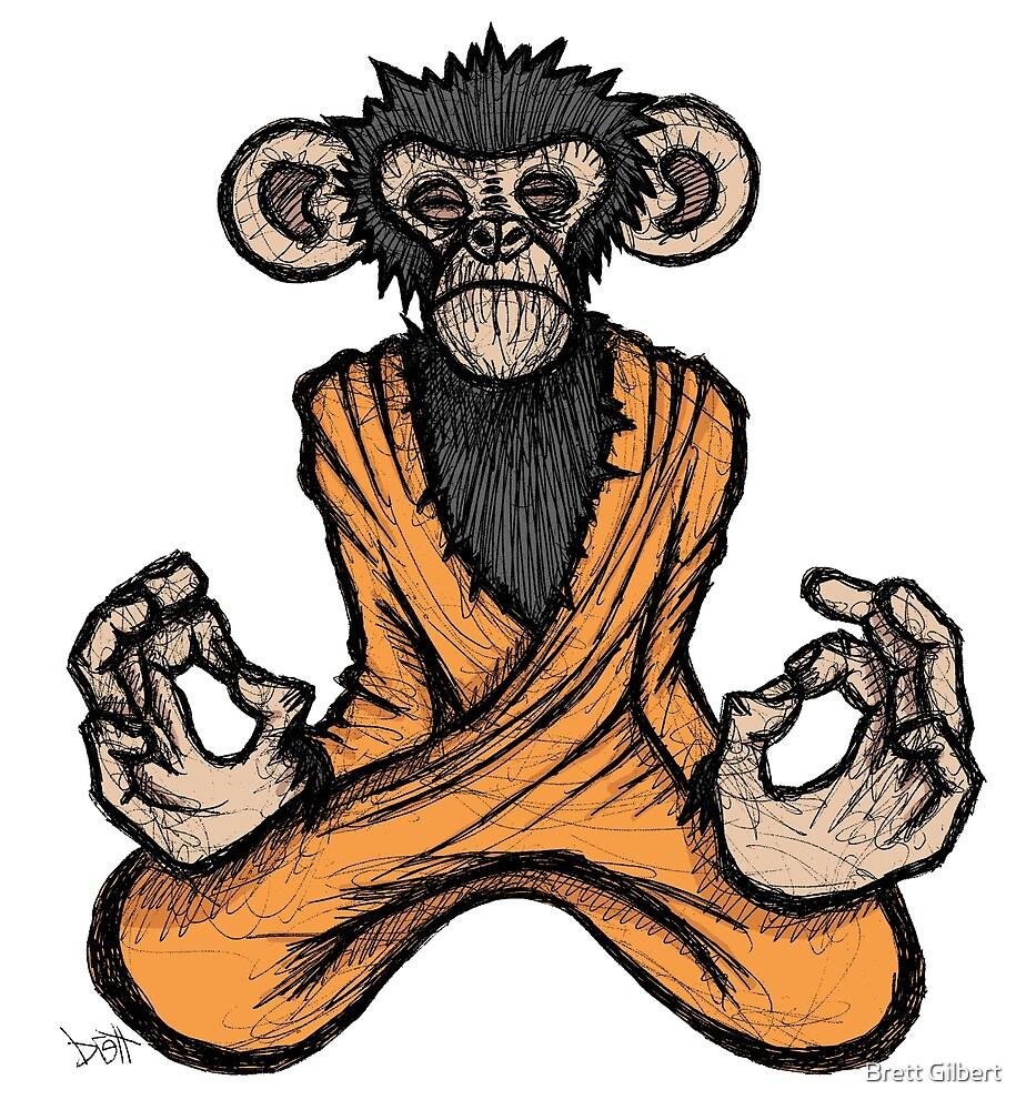 Zen Monkey by Brett Gilbert