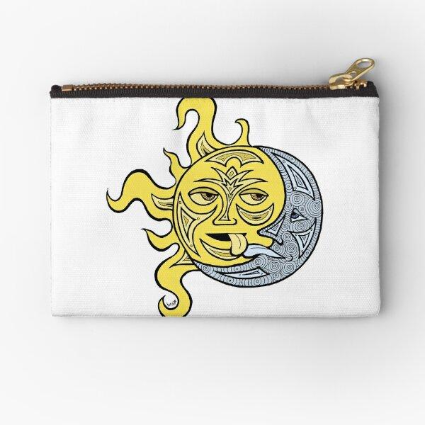 Kissing Sun and Moon Zipper Pouch