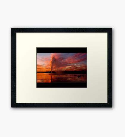 Into the night! Framed Print