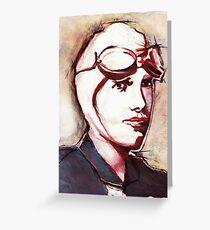 Amelia Earhart Greeting Card