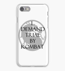 Trial by Kombat iPhone Case/Skin