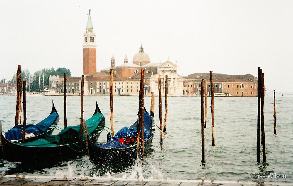 Venetian canal scene by Lisa Wilson