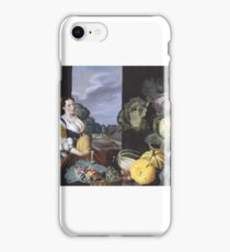 Sir Nathaniel Bacon , Cookmaid with Still Life of Vegetables and Fruit iPhone Case/Skin