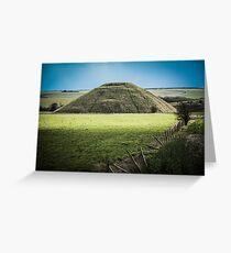 Light Shining on Silbury Hill Greeting Card