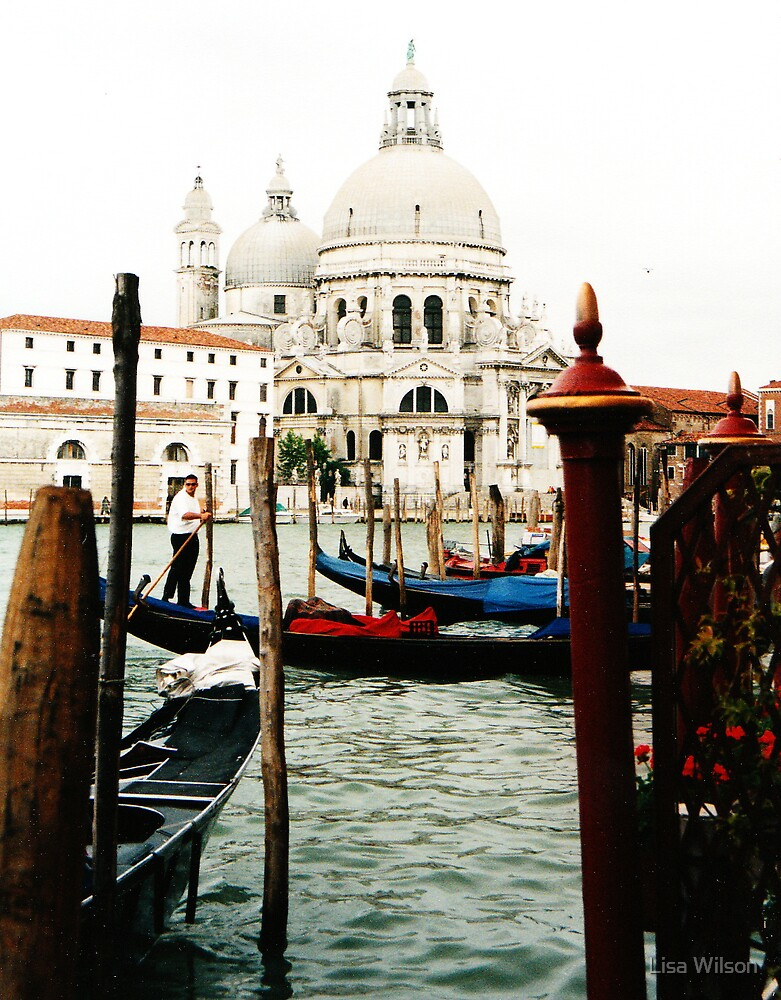 Canal and Church, Venice by Lisa Wilson