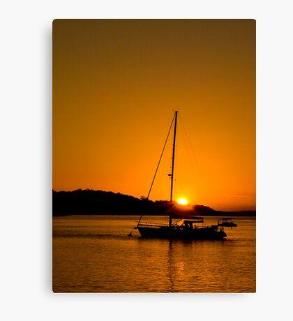 Nelson Bay Sunset No 1 Canvas Print