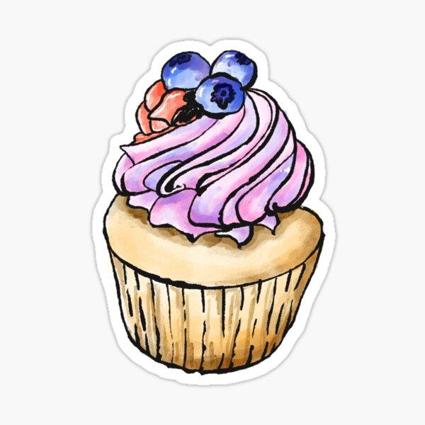 Blueberry cupcake Sticker