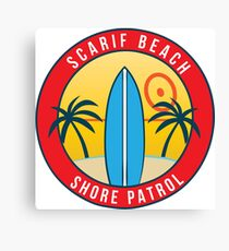 Scarif Shore Patrol Canvas Print