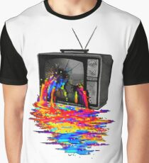 television full color Graphic T-Shirt
