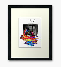 television full color Framed Print