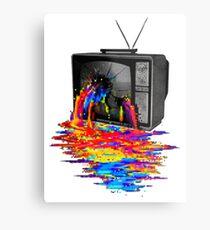 television full color Metal Print