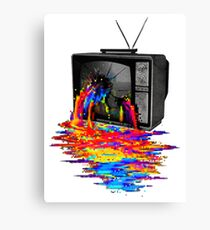 television full color Canvas Print