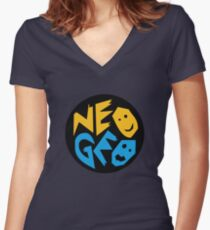 Neo Geo Women's Fitted V-Neck T-Shirt