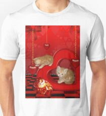 Cute, playing kitten  Unisex T-Shirt