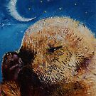 Sea Otter Pup by Michael Creese