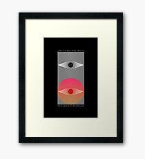 Cynical Eyes Framed Print