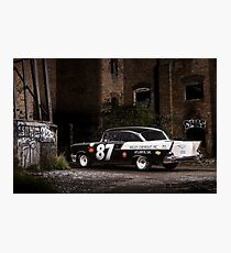 Steve Barks' 1957 Chevrolet Coupe 'Black Widow' Photographic Print
