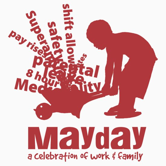TShirtGifter presents: MayDay 2008: a celebration of work and family - Red print