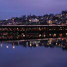 City Bridge Reflections Derry Ireland by mikequigley