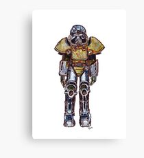 T-51 Power Armour Canvas Print