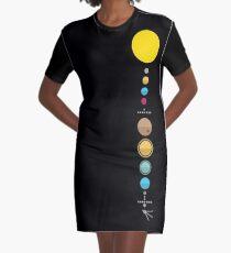 Solar System Graphic T-Shirt Dress