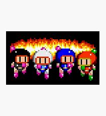Bomberman x 4 Photographic Print