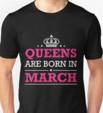 Camiseta unisex reinas nacen en marzo