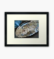Burnished And Painted Metal Disc Framed Print