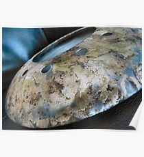 Burnished And Painted Metal Disc Poster
