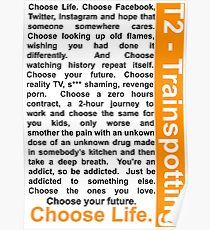 Trainspotting 2 - Choose Life Poster