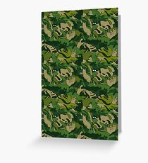 army camouflage cat cats lover Greeting Card