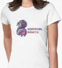 Squirrel Power Womens Fitted T-Shirt