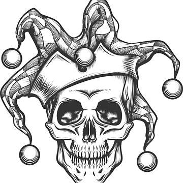 The Skull in joker cap by devaleta